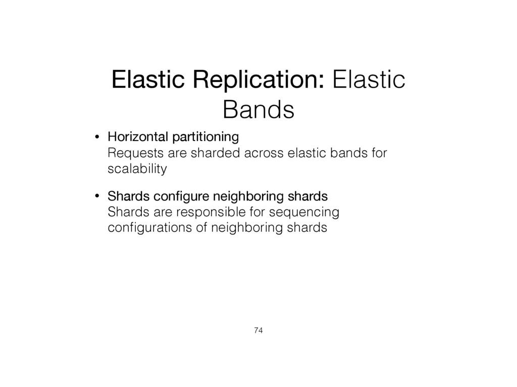 Elastic Replication: Elastic Bands • Horizontal...