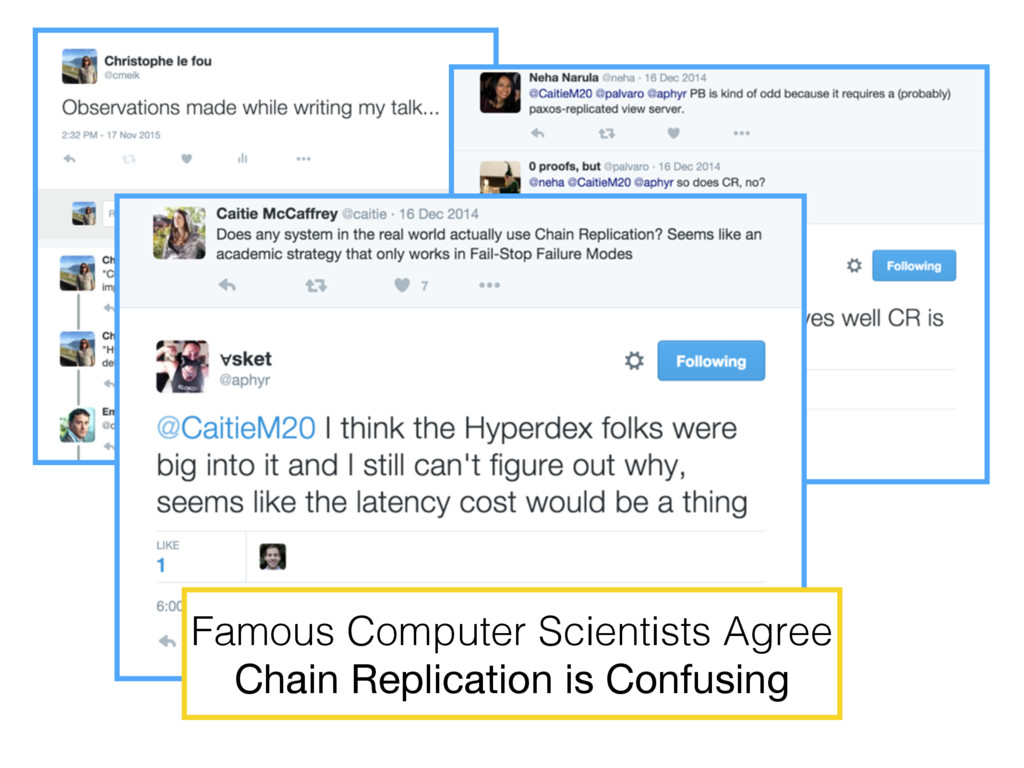 Famous Computer Scientists Agree Chain Replicat...