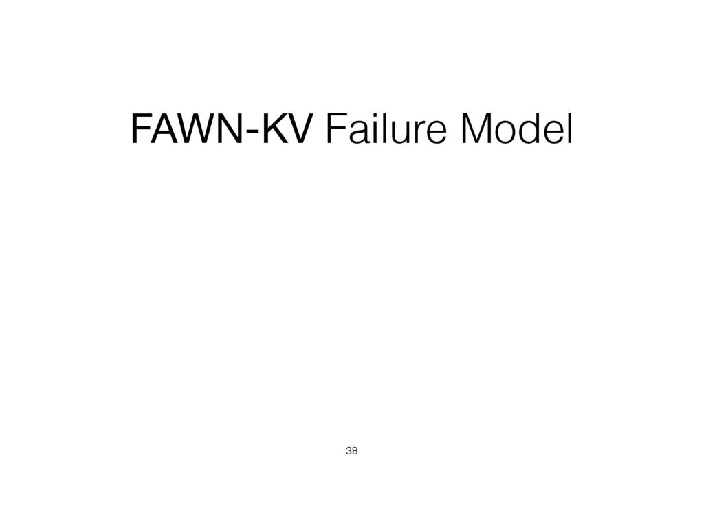 FAWN-KV Failure Model 38