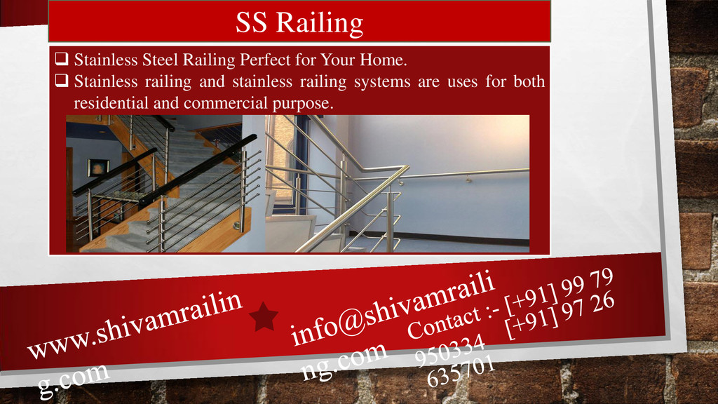 SS Railing  Stainless Steel Railing Perfect fo...