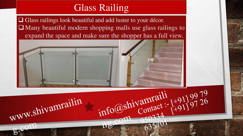 Glass Railing  Glass railings look beautiful a...