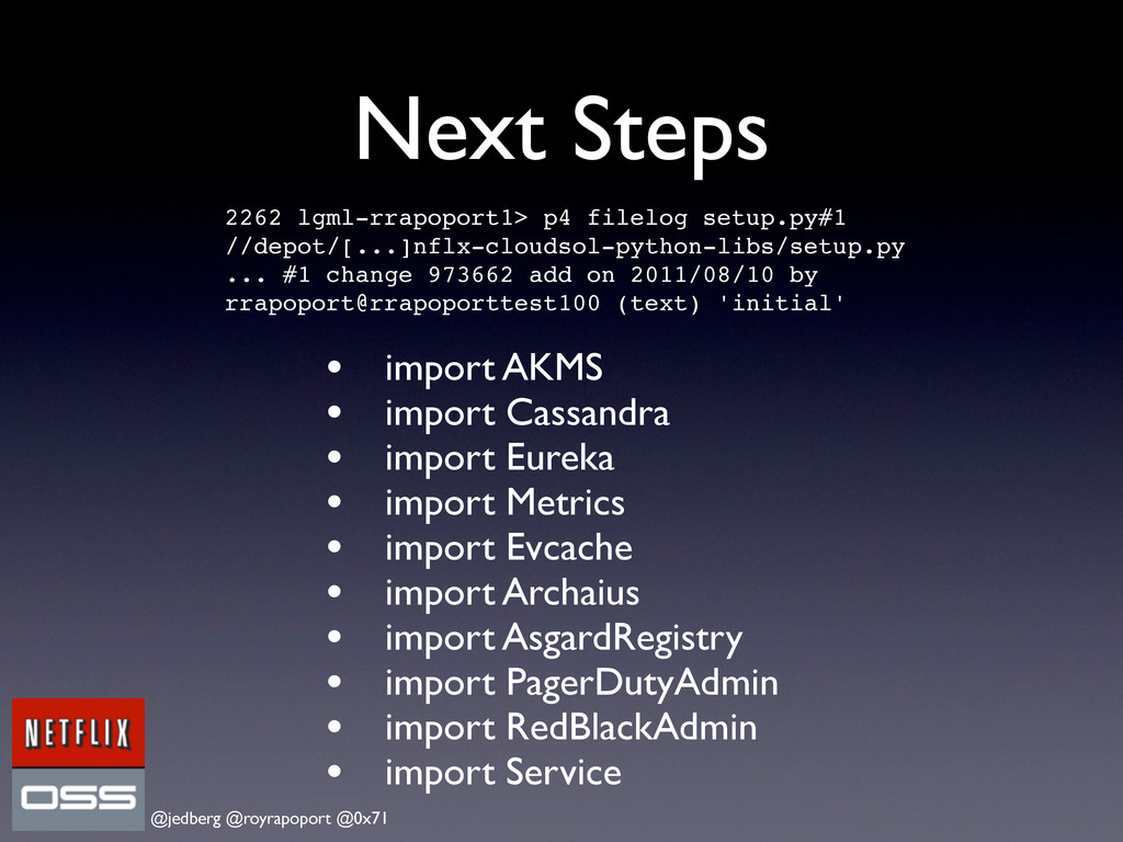 @jedberg @royrapoport @0x71 Next Steps • import...