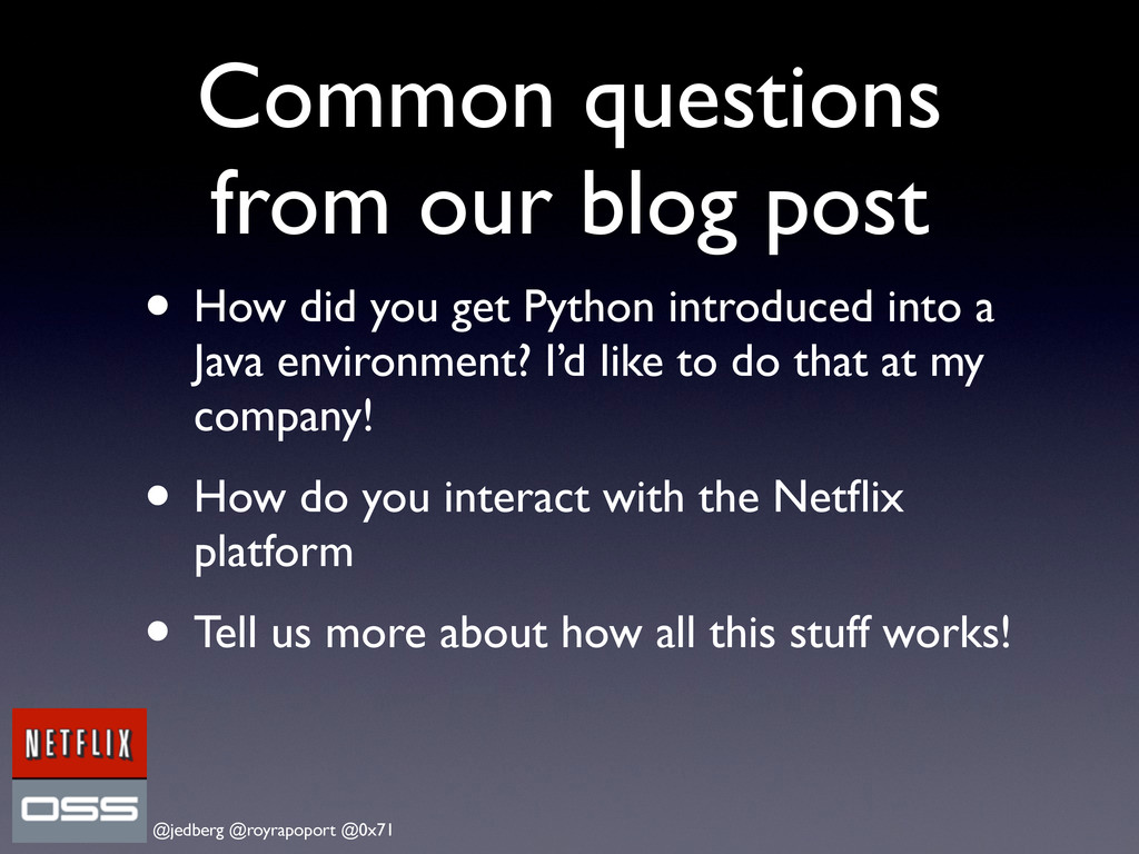 @jedberg @royrapoport @0x71 Common questions fr...