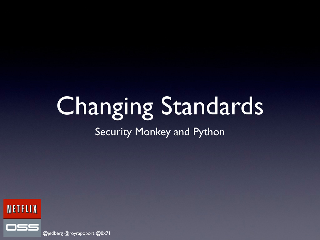 @jedberg @royrapoport @0x71 Changing Standards ...