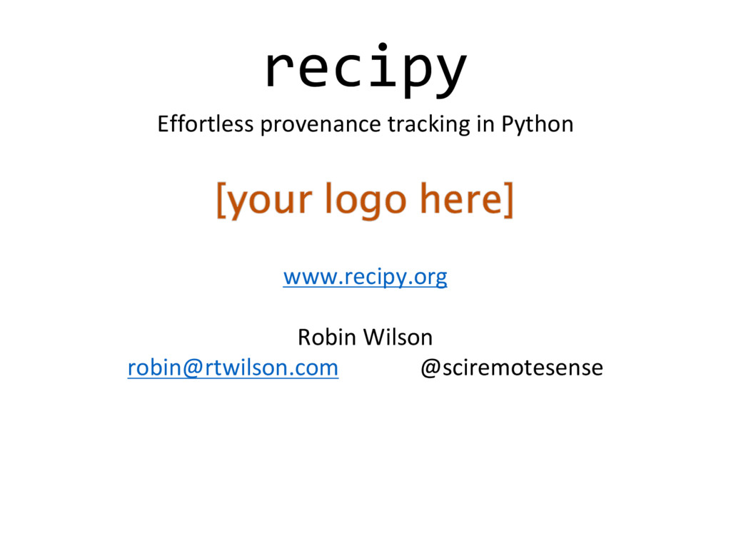 recipy Effortless	