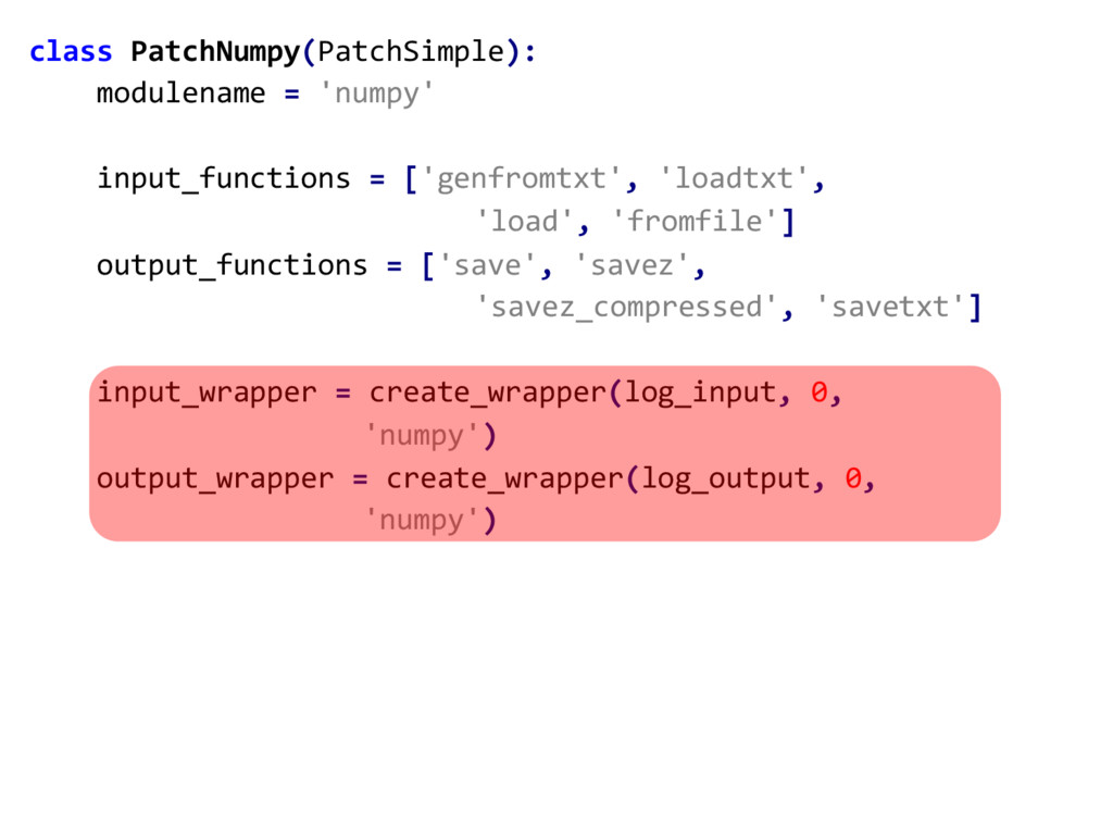 class PatchNumpy(PatchSimple): modulename = 'nu...