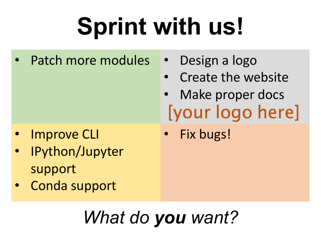 Sprint  with  us! • Patch more	