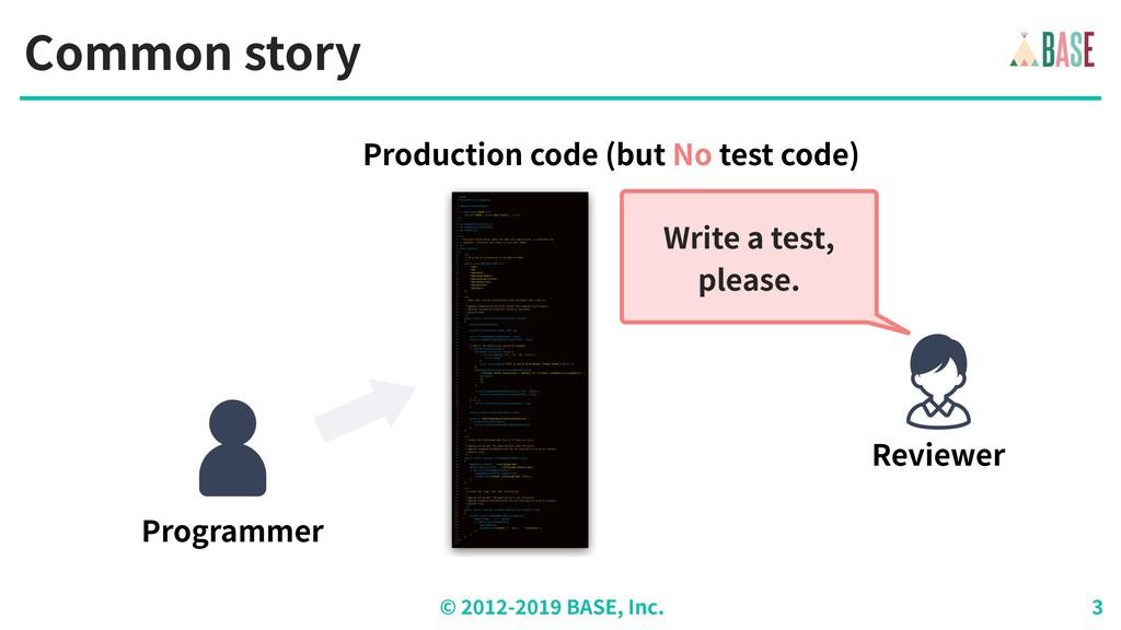 © - BASE, Inc. Common story Programmer Producti...