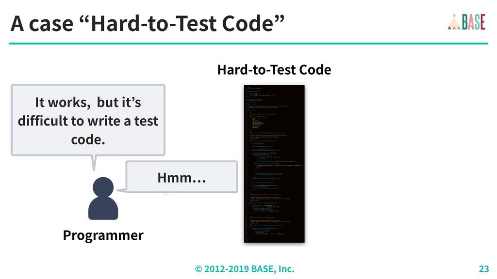 "© - BASE, Inc. A case ""Hard-to-Test Code"" Progr..."