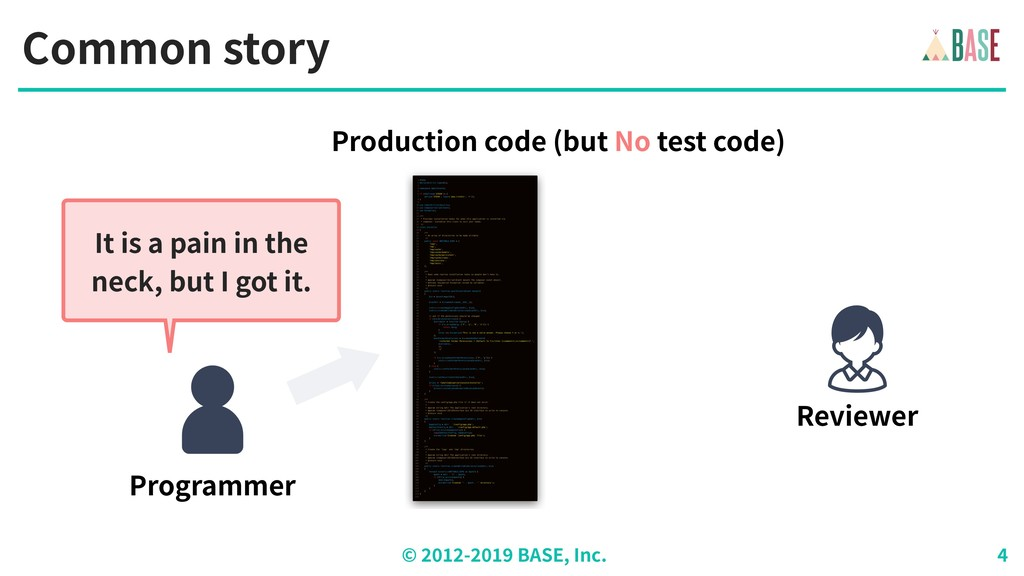 © - BASE, Inc. Common story Programmer It is a ...