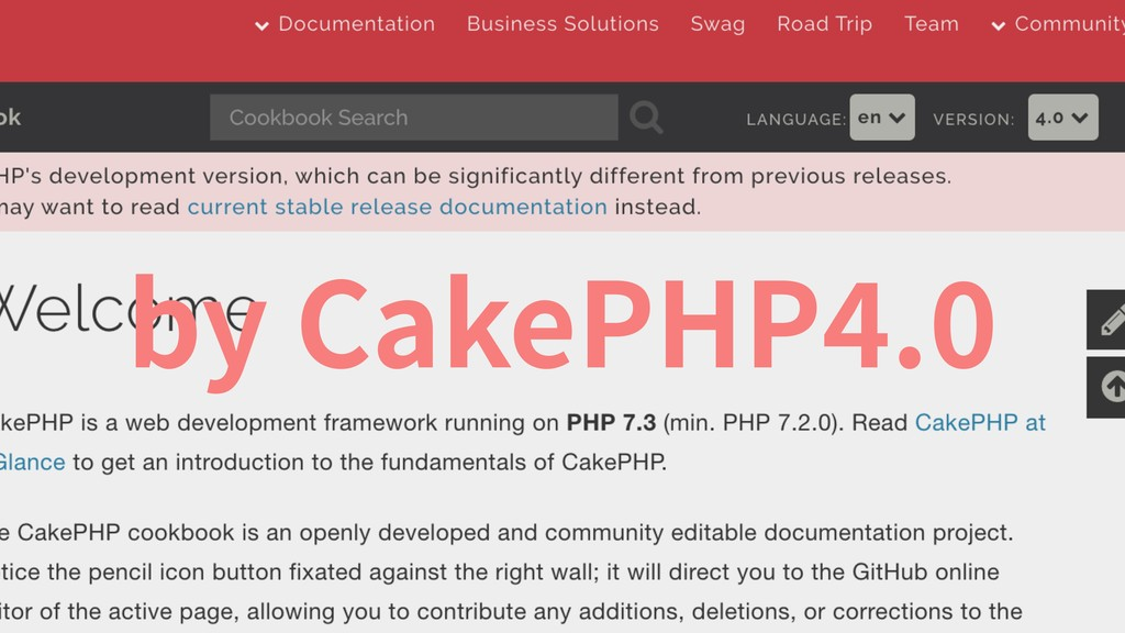 by CakePHP .