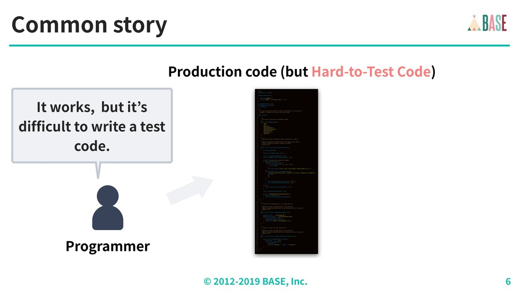 © - BASE, Inc. Common story Programmer It works...