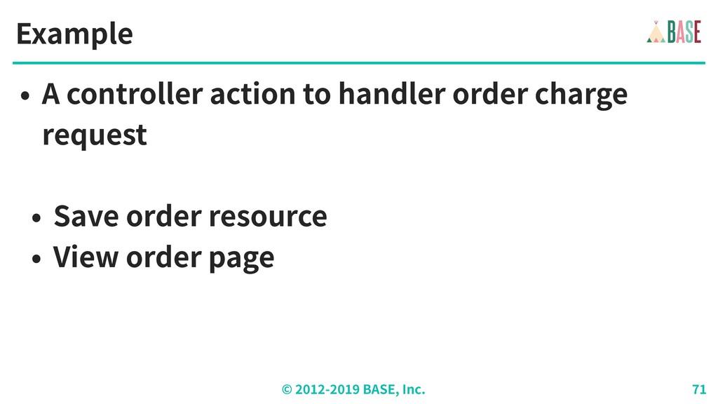 © - BASE, Inc. Example • A controller action to...