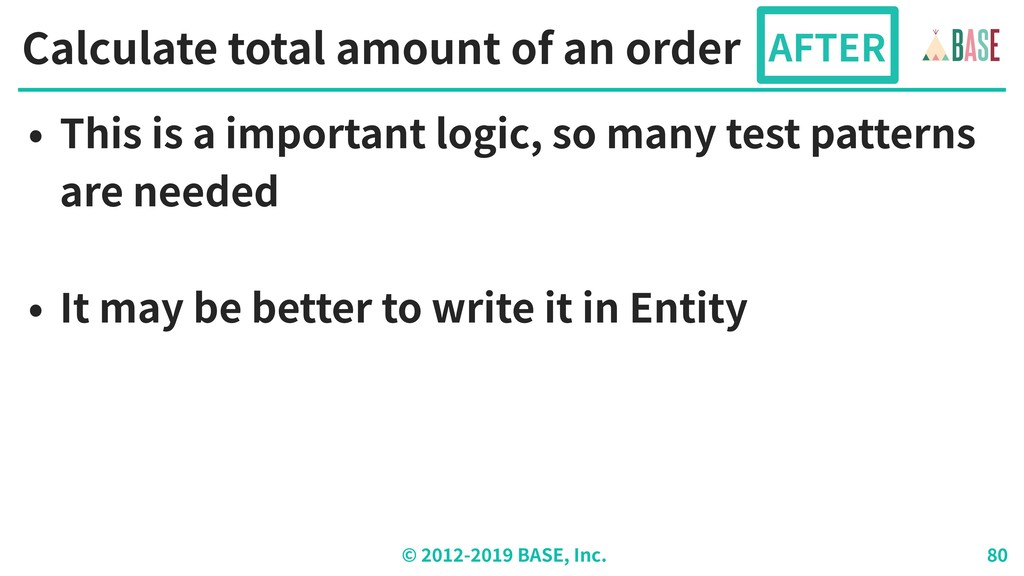 © - BASE, Inc. Calculate total amount of an ord...