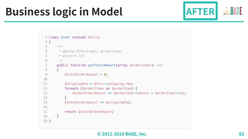 © - BASE, Inc. Business logic in Model AFTER