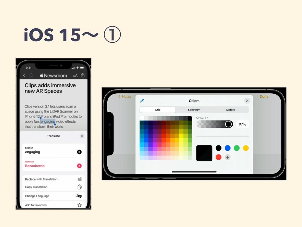 iOS 15ʙ ᶃ