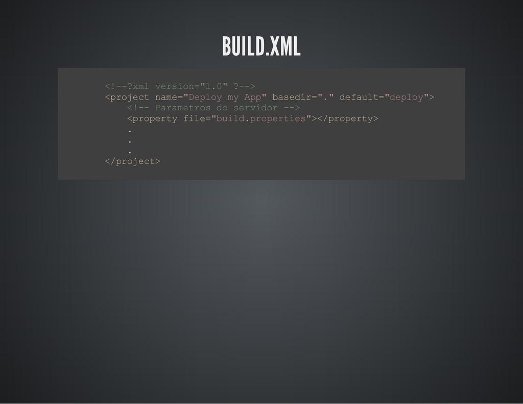 """BUILD.XML < ! - - ? x m l v e r s i o n = """" 1 ...."""