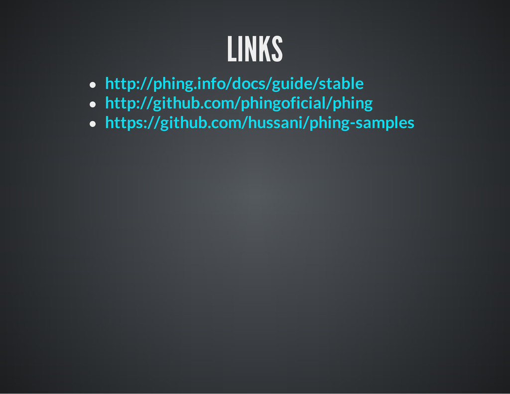LINKS http://phing.info/docs/guide/stable http:...