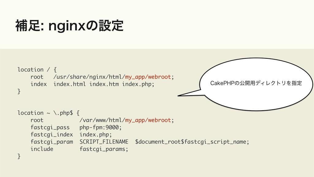 ิOHJOYͷઃఆ location / { root /usr/share/nginx...