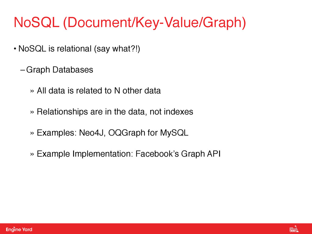 Proprietary and Confidential • NoSQL is relatio...
