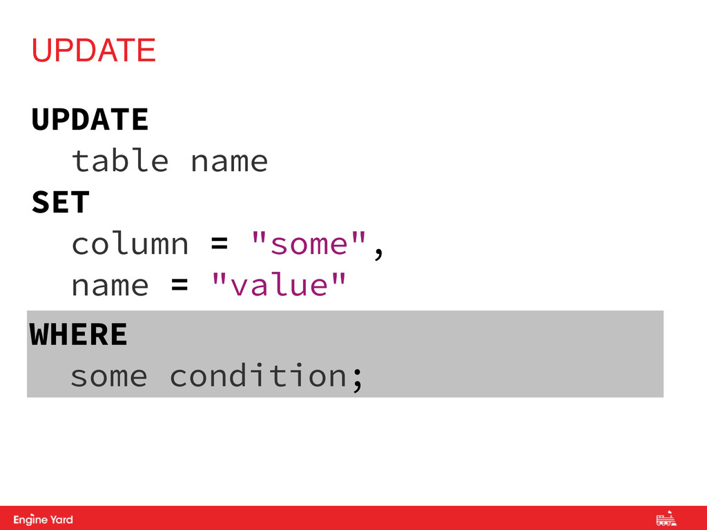 Proprietary and Confidential UPDATE table name ...