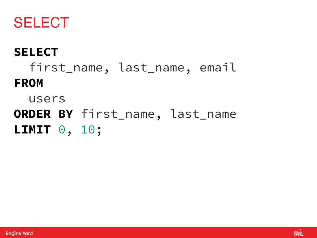 Proprietary and Confidential SELECT first_name,...