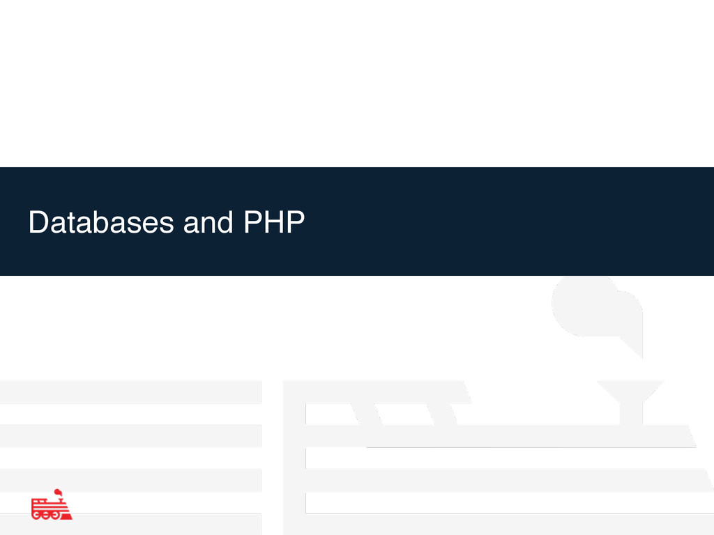 Databases and PHP