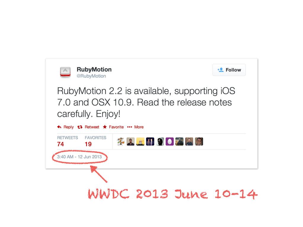 WWDC 2013 June 10-14