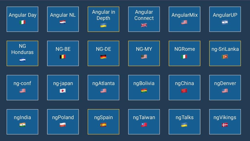 """ngAtlanta ! ngIndia """" Angular NL # ng-conf ! ng..."""