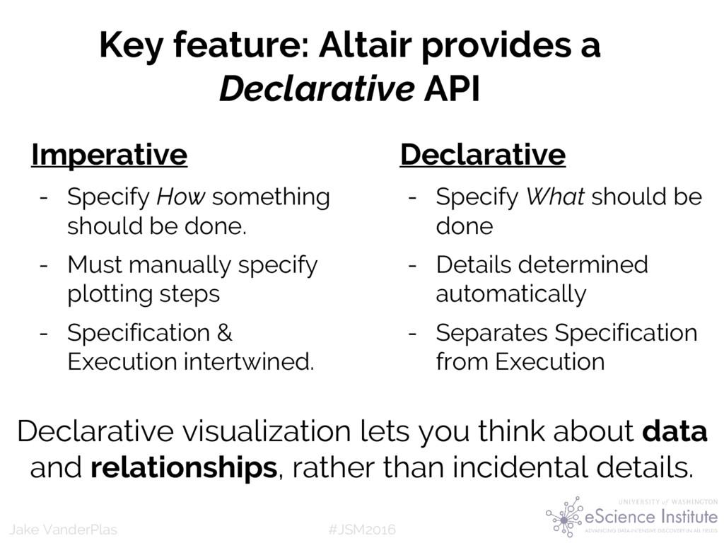 #JSM2016 Jake VanderPlas Key feature: Altair pr...