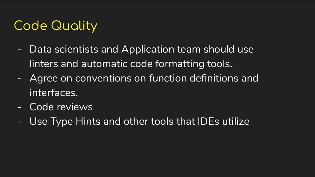 Code Quality - Data scientists and Application ...