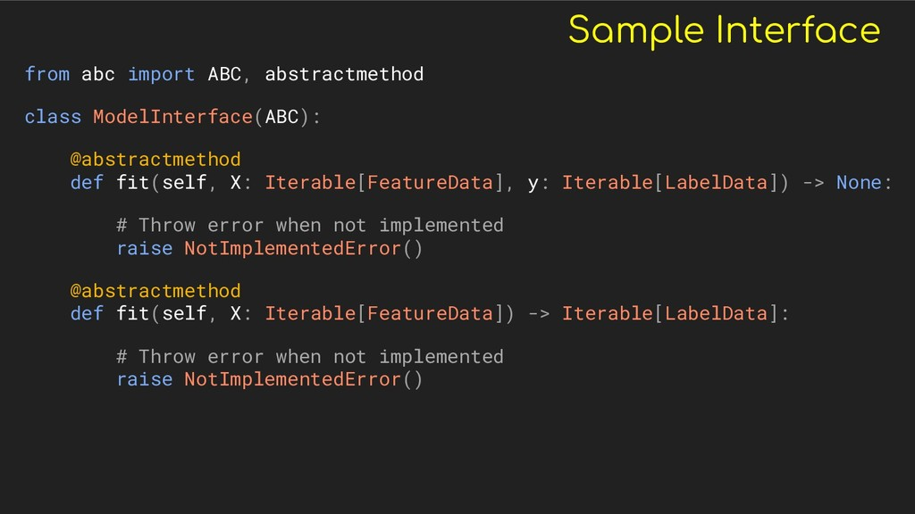 Sample Interface from abc import ABC, abstractm...