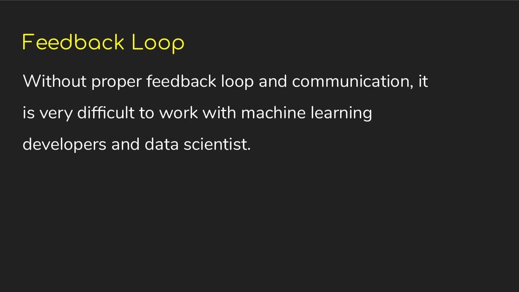 Feedback Loop Without proper feedback loop and ...