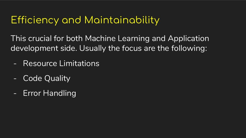 Efficiency and Maintainability This crucial for...