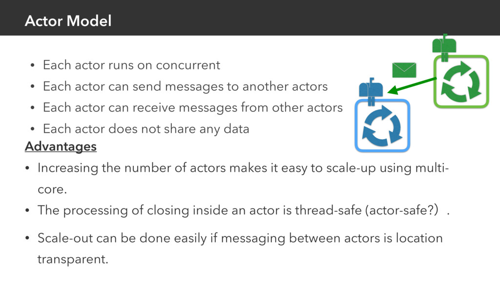 • Each actor runs on concurrent • Each actor ca...