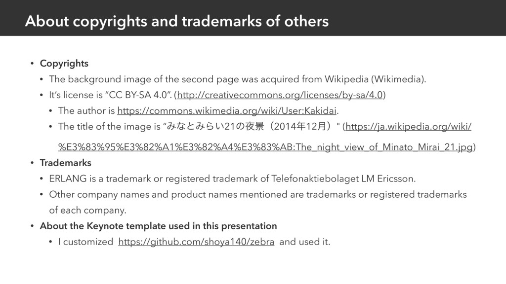 About copyrights and trademarks of others • Cop...