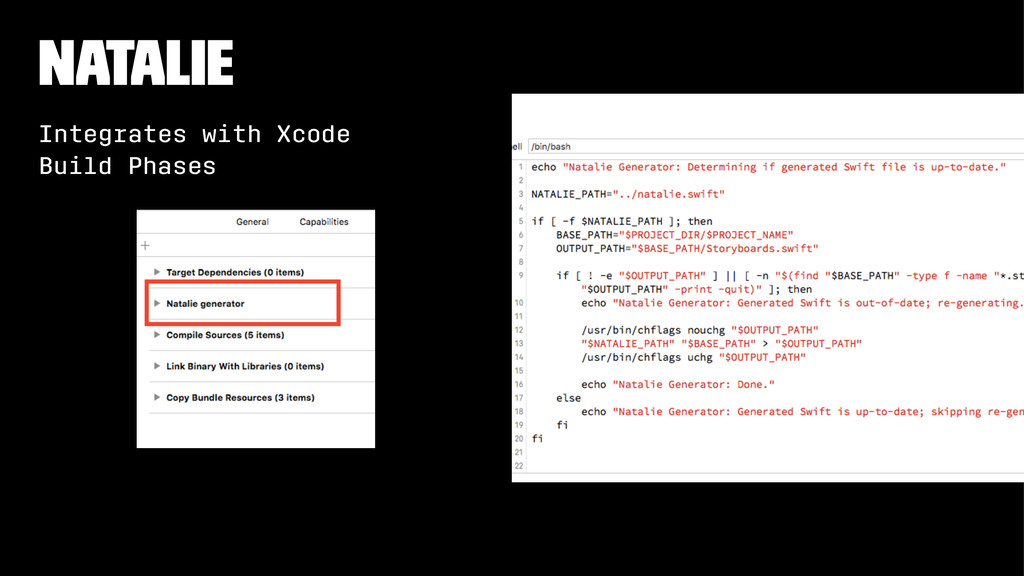 Natalie Integrates with Xcode Build Phases