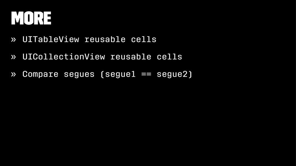 More » UITableView reusable cells » UICollectio...