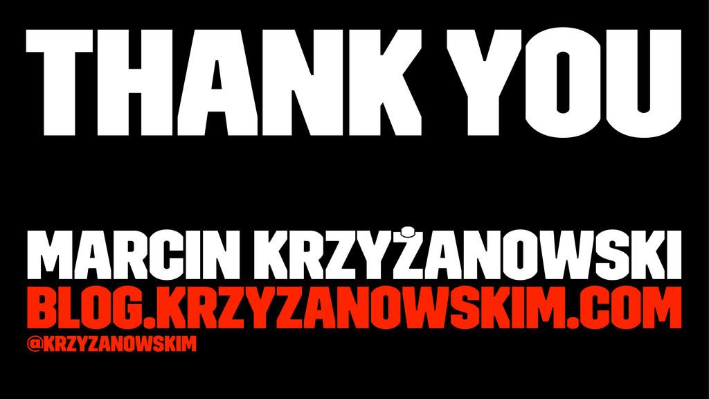 Thank you Marcin Krzyżanowski blog.krzyzanowski...