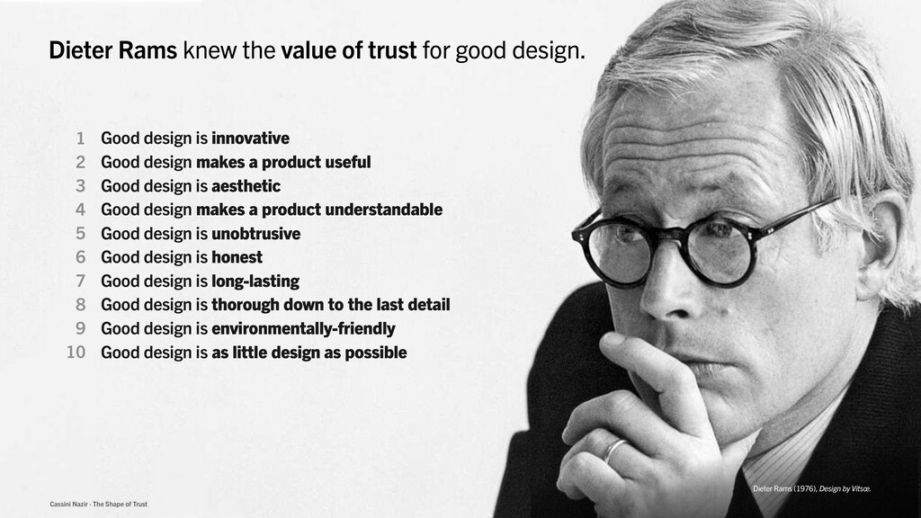 Cassini Nazir · The Shape of Trust Dieter Rams ...