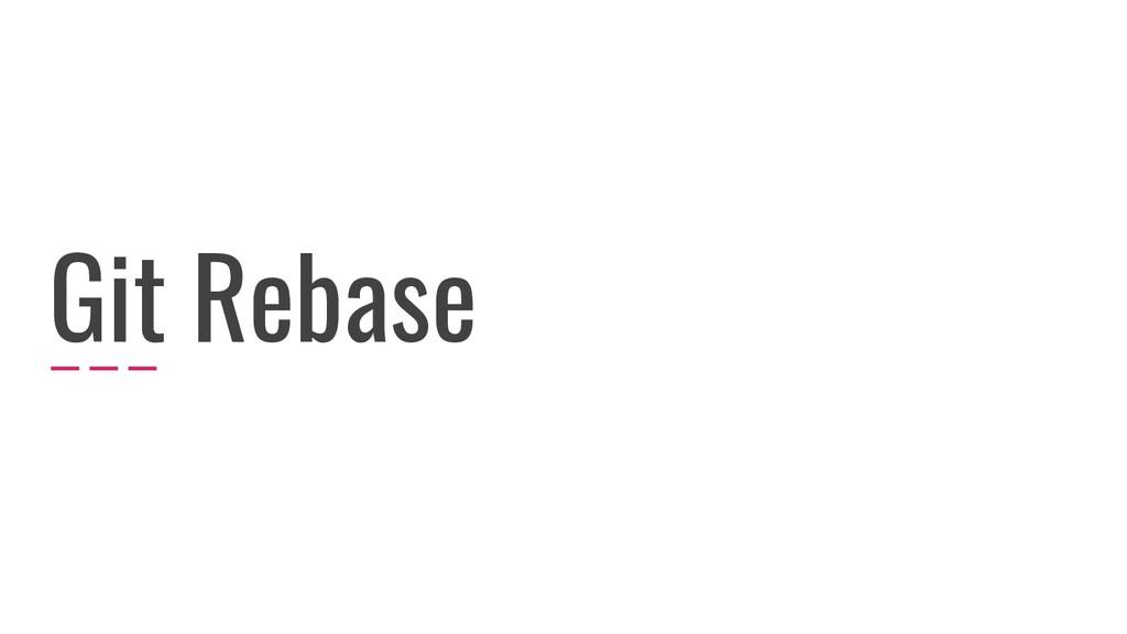 Git Rebase