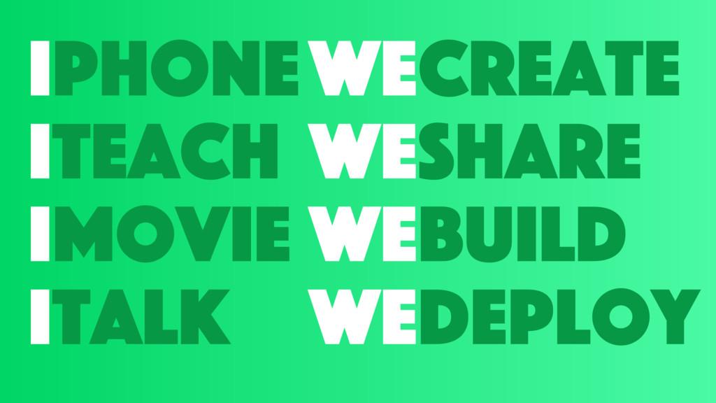 iphone iteach imovie italk wecreate weshare web...