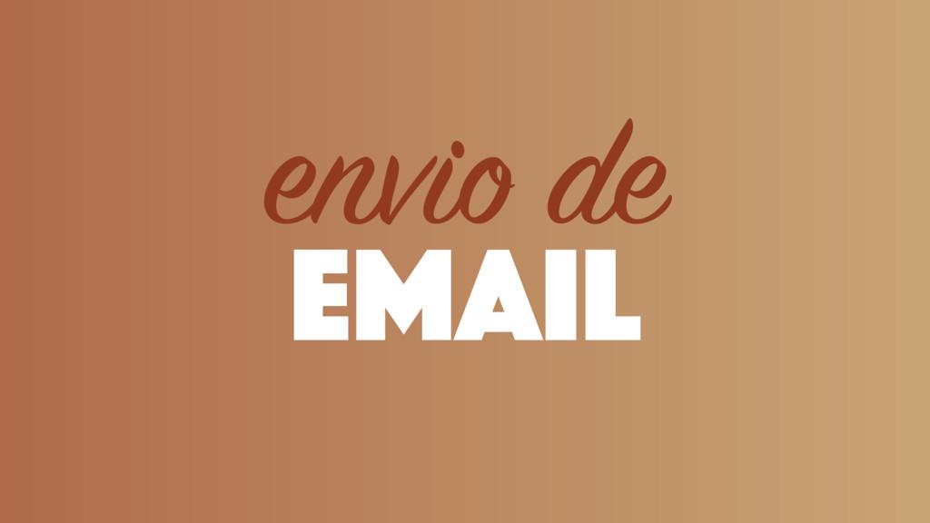 email envio de