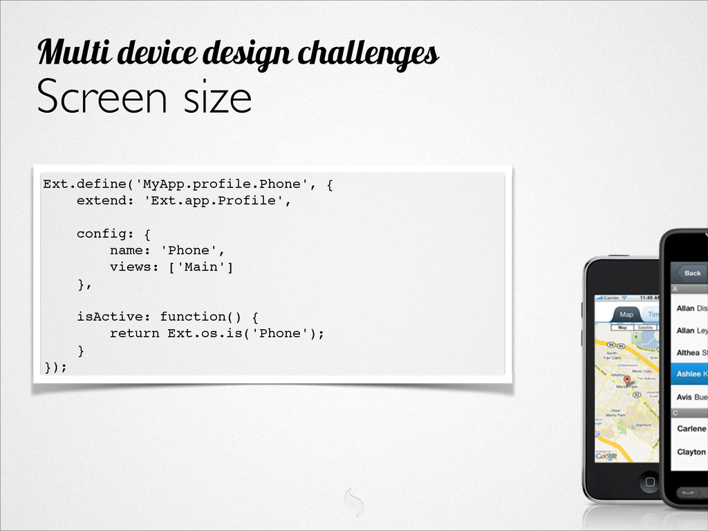 Screen size Multi device design challenges Ext....