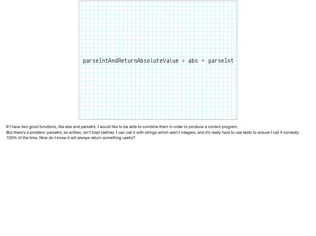 parseIntAndReturnAbsoluteValue = abs ∘ parseInt...