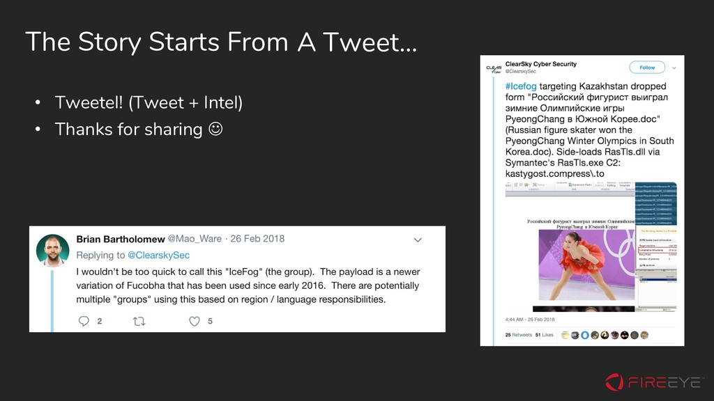 The Story Starts From • Tweetel! (Tweet + Intel...