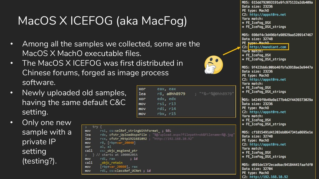 MacOS X ICEFOG (aka MacFog) • Among all the sam...