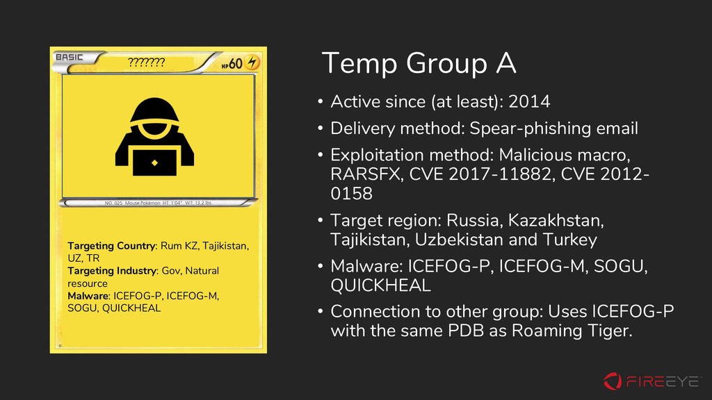 Temp Group A • Active since (at least): 2014 • ...