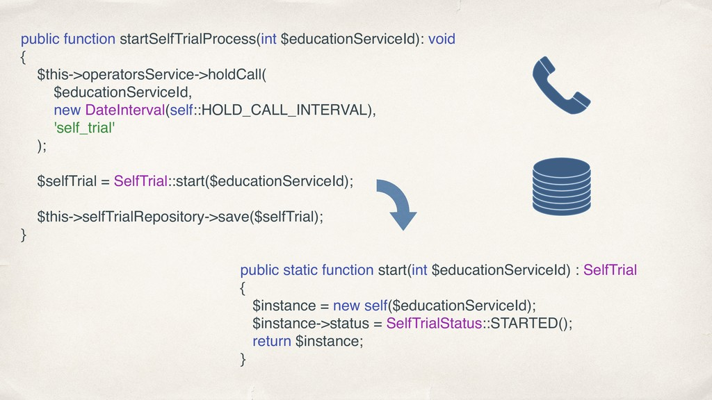 public function startSelfTrialProcess(int $educ...
