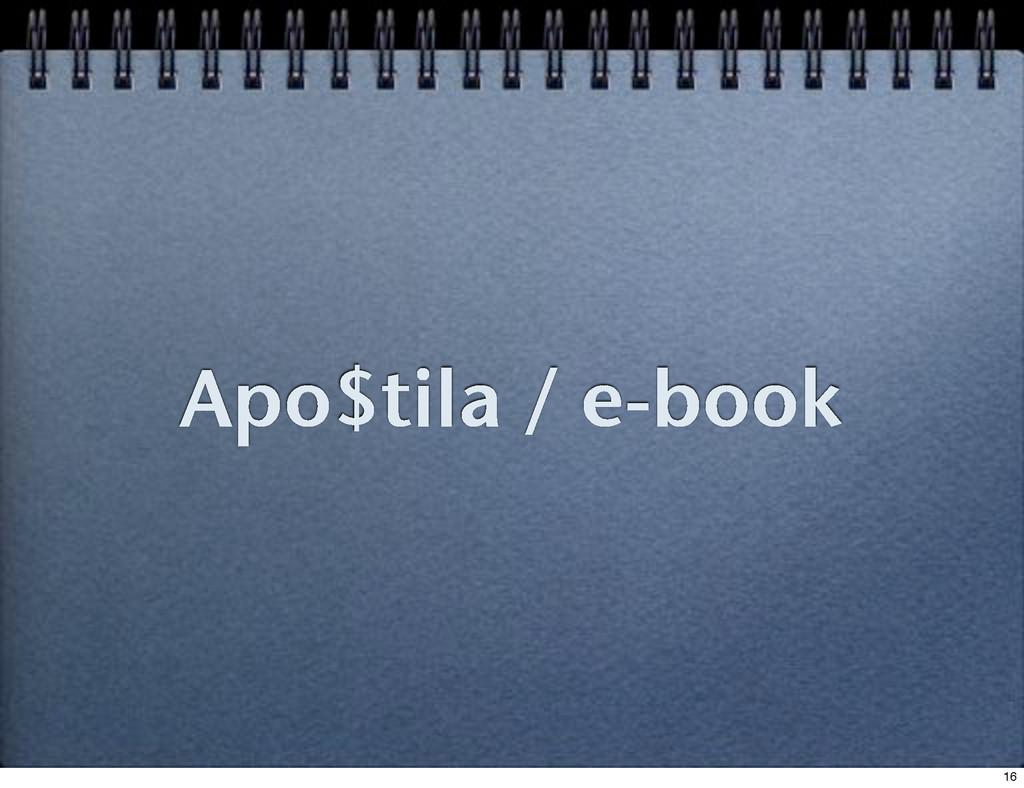 Apo$tila / e-book 16